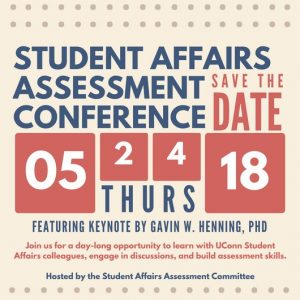 Save the Date - Student Affairs Assessment Conference on May 24, 2018